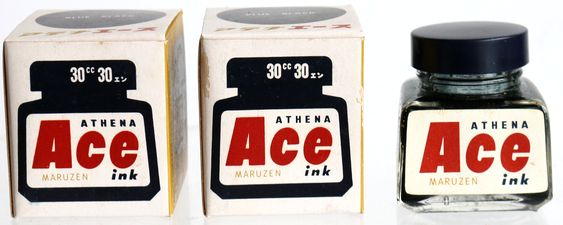 丸善 MARUZEN Ace ink BLUE BLACK 30cc-2