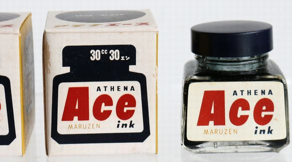 丸善 MARUZEN Ace ink BLUE BLACK 30cc-3
