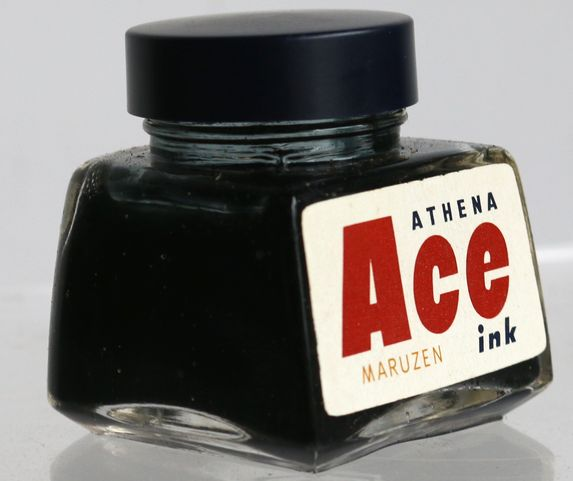 丸善 MARUZEN Ace ink BLUE BLACK 30cc-4