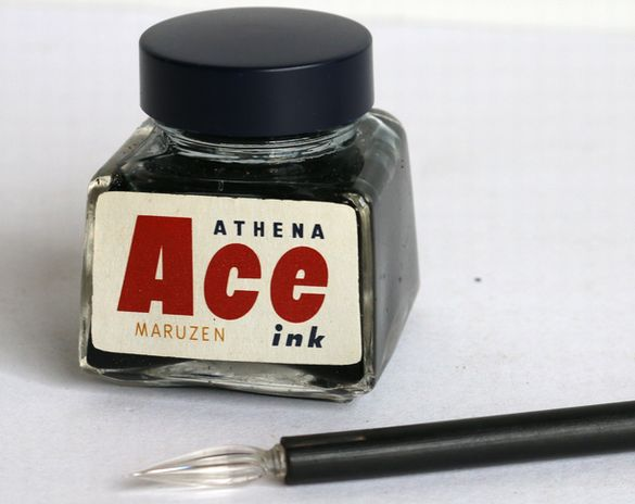 丸善 MARUZEN Ace ink BLUE BLACK 30cc-6