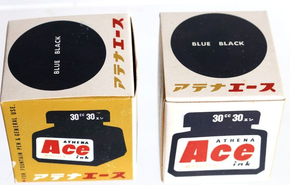 丸善 MARUZEN Ace ink BLUE BLACK 30cc-8