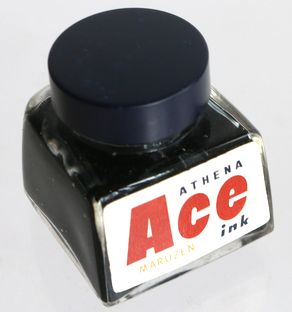 丸善 MARUZEN Ace ink BLUE BLACK 30cc-9